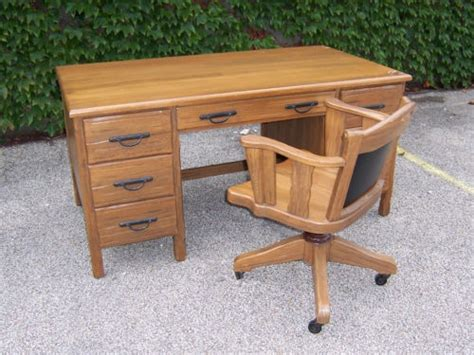 Ranch Oak Desk by Large A Brandt Ranch Oak Desk And Chair 1 Of 2 Chairs