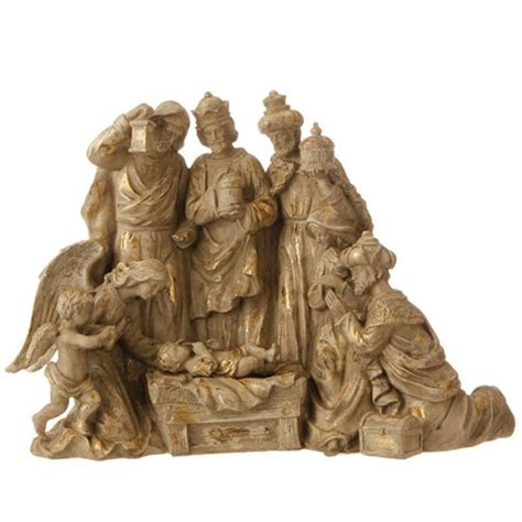 gold nativity figurine