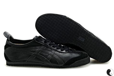 womens onitsuka tiger mexico 66 all black shoes asics