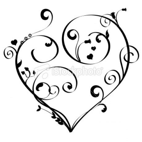 heart locket tattoo coloring pages