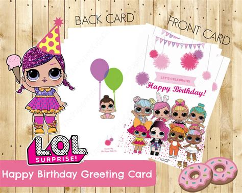 print birthday cards singapore l o l surprise dolls custom made birthday card for her