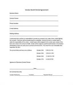 booth rental agreement 8 download free documents in pdf