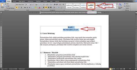 Microsoft Di Bawah 1jt tutorial membuat daftar isi otomatis di microsoft word