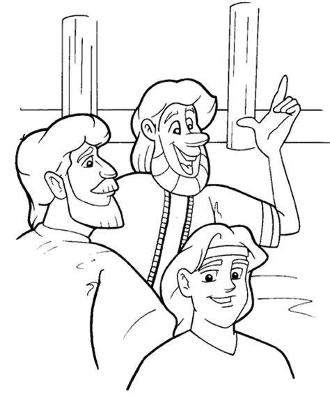 coloring page zechariah at the temple new testament clipart coloring pages puzzles 1