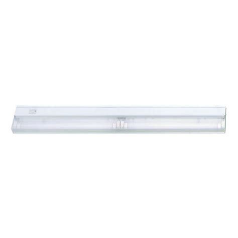 incandescent under cabinet lighting acclaim lighting 2 light 24 in white fluorescent under