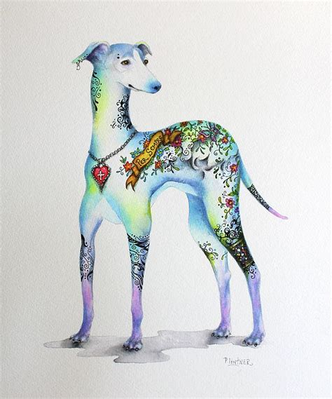 tattoo pen for dogs italian greyhound tattoo dog done in acrylic and pitt pen