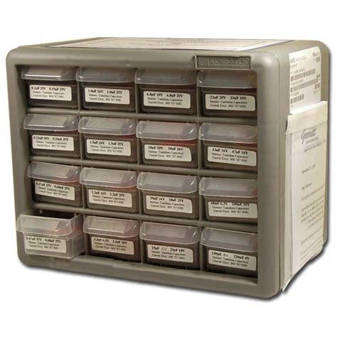 smd tantalum capacitor kit avx 25 each of 32 values smd surface mount capacitor kit tantalum 0 1uf 100uf garrett j