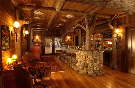 Log Cabin Homes Interior by Bar Rustic Family Room Minneapolis By Gabberts