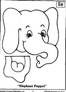 elephant puppet kindergarten pinterest