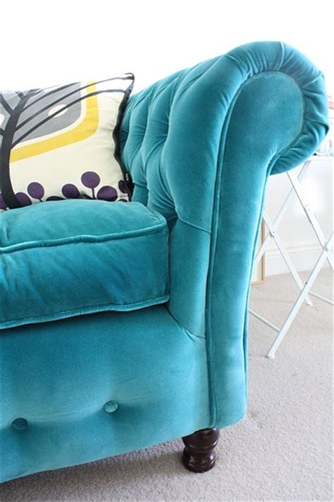 Teal Chesterfield I Am Obsessed With A Teal Sofa For Turquoise Chesterfield Sofa