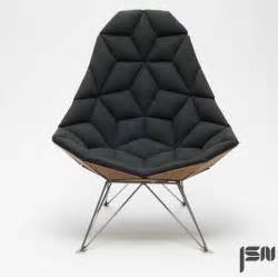 chair designer jsn design assembles diamond shaped tiles into chair