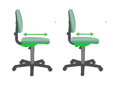 seat depth ergonomic office seating and chairs edinburgh glasgow