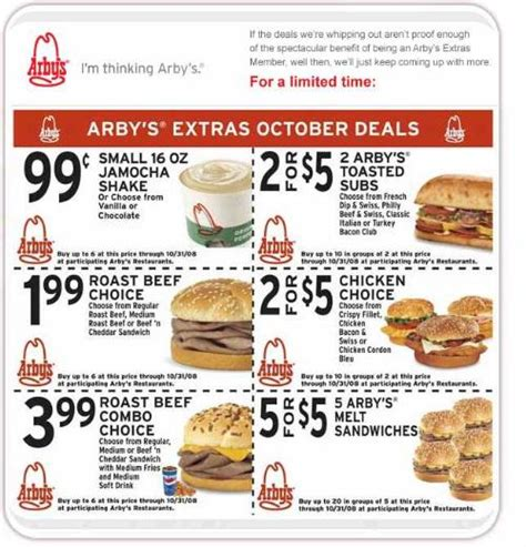 food coupon arbys fast food coupons coupon cutters