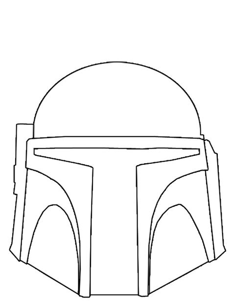 boba fett helmet template free coloring pages of boba fett mask