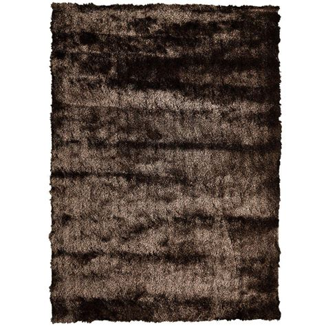 4 X 8 Area Rug Home Decorators Collection So Silky Chocolate 4 Ft X 8 Ft Area Rug Silky4x8ch The Home Depot
