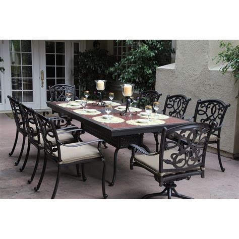 darlee santa 9 dining set with granite table