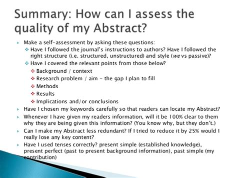 How To Make An Abstract For Research Paper - how to write an abstract for research paper creativecow