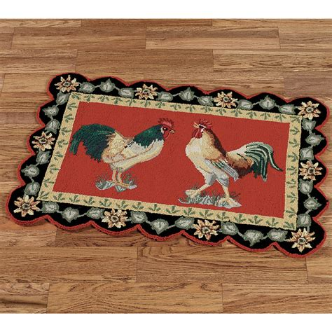 Unique Kitchen Rugs Unique Rooster Kitchen Rugs Homesfeed