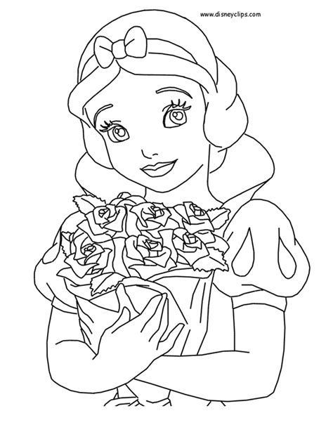 pages of disney snow white printable coloring pages 2 disney