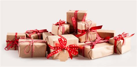 brown christmas gifts pile of gifts with colorful bows stock photo image 63721726
