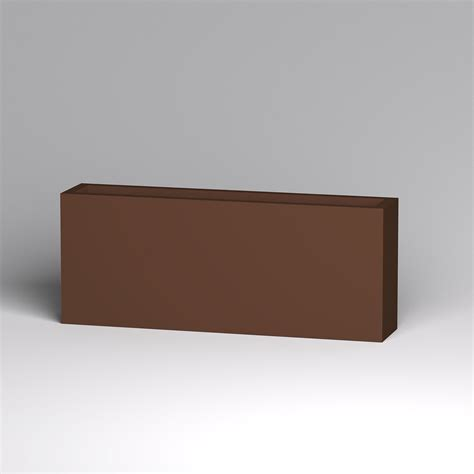 modern rectangle planter 60in l x 12in w x 24in h