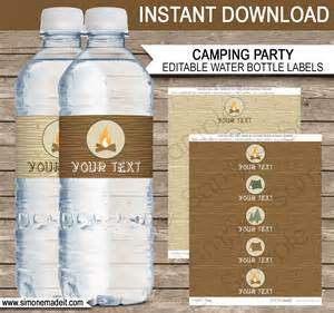 Diy Water Bottle Labels Template by Cing Water Bottle Labels Editable Template