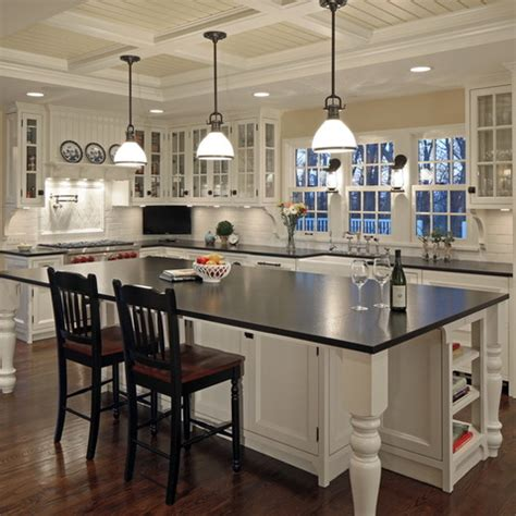 kitchen islands with legs hybrids of farm tables and adding farmhouse charm farmhouse kitchens white