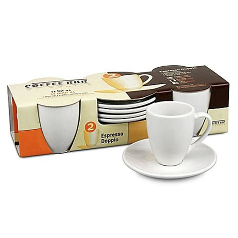 bed bath and beyond espresso coffee bar by konitz espresso doppio cups and saucers set