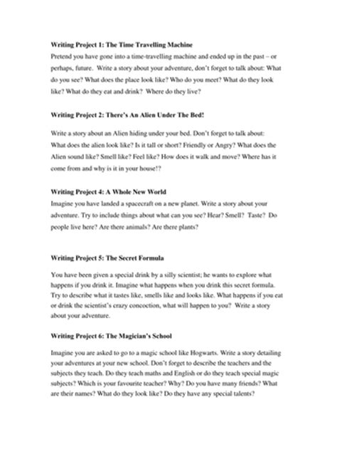 ideas for ks2 creative writing different ideas for creative writing activities by ela86