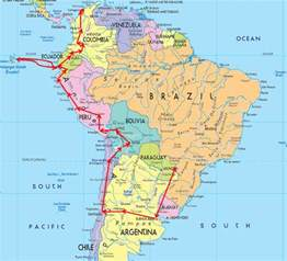 usa and south america map south america