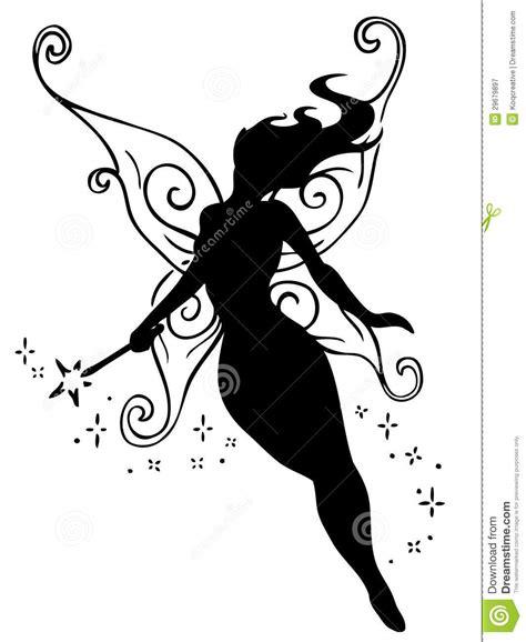 imagenes de hadas en blanco y negro hada en silueta stock de ilustraci 243 n imagen de fantas 237 a