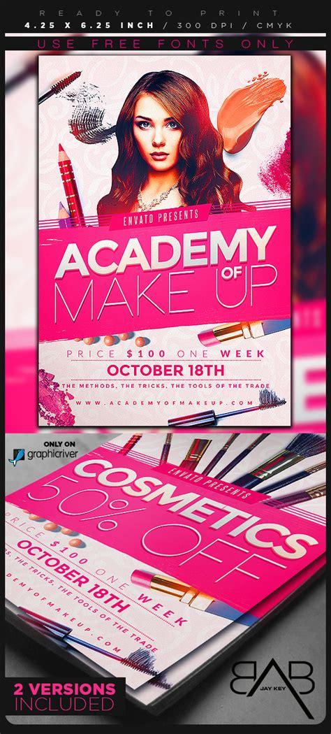 makeup artist flyers templates makeup course flyer template on behance