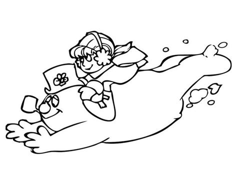 Karen And Frosty The Snowman Coloring Pages Hellokids Com Frosty Coloring Pages
