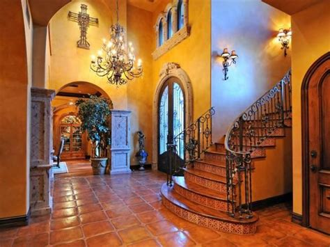 Foyer En Español decorating with mexican talavera tile foyer staircase staircases and tile