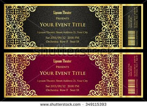17 Best Ideas About Golden Ticket On Pinterest Willy Wonka Ticket Design And Letterpress Fancy Ticket Template