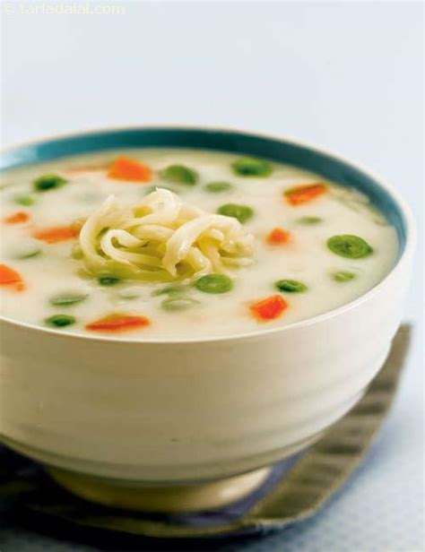 milk vegetable soup recipe indian vegetarian recipes
