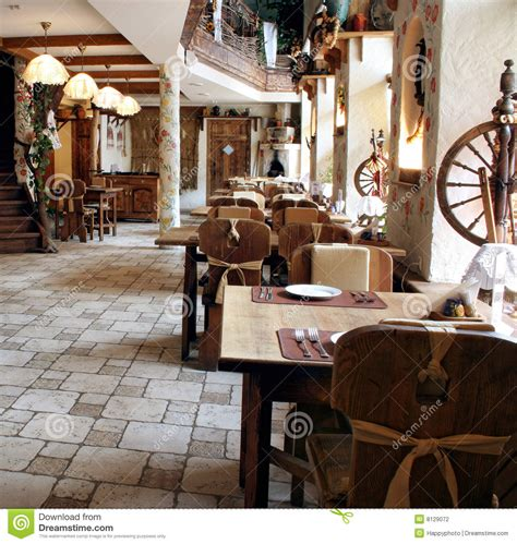 styles of decor restaurant in country style stock photography image 8129072