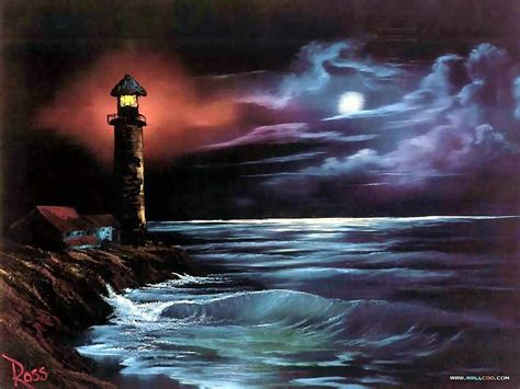 Lighthouse At By Bob Ross Joseph Donaghy