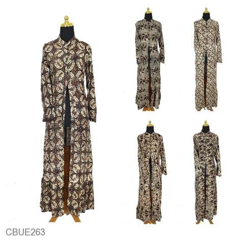 Gamis Batik Sogan baju batik gamis jubah motif batik parang sogan soft