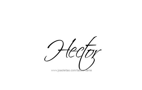 hector name tattoo designs