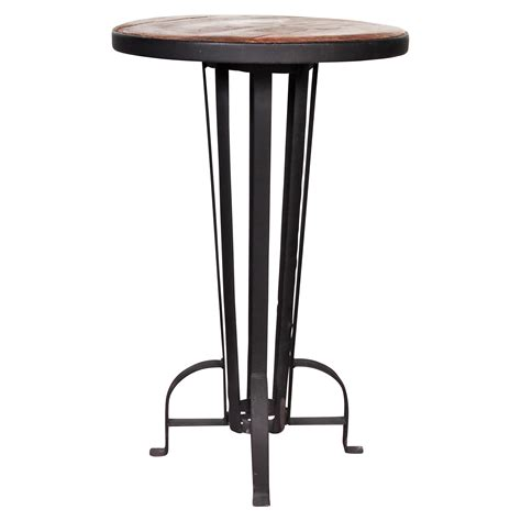 wrought iron bar table recycled wood and wrought iron bar table black rock
