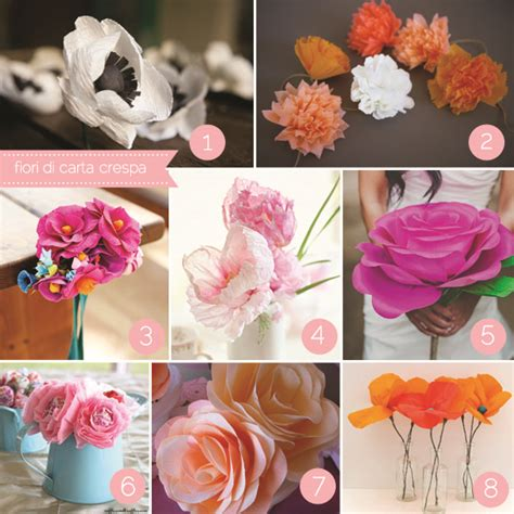 fiori fai da te di carta fiori di carta fai da te