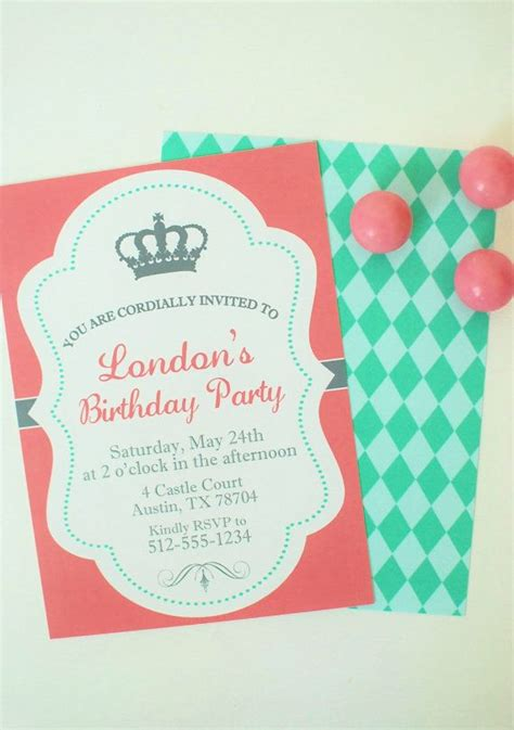 free printable crown invitations princess birthday invitation custom printable princess