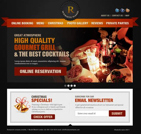 Fast Food Website Template Free Download Tergop Fast Food Website Template Free