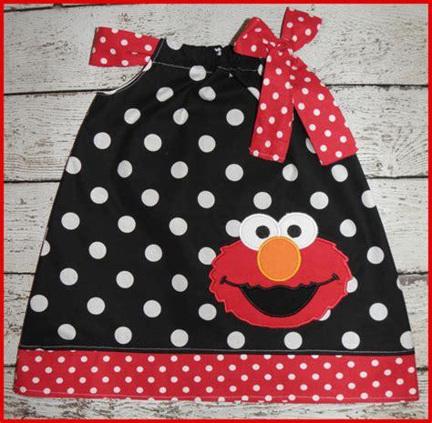 White Elmo Dress Piyama black and white polka dot elmo pillowcase style dress