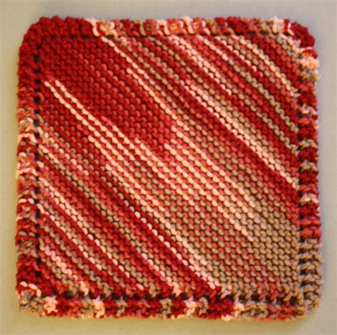 diagonal knit dishcloth pattern diagonal square knit patterns knithaven