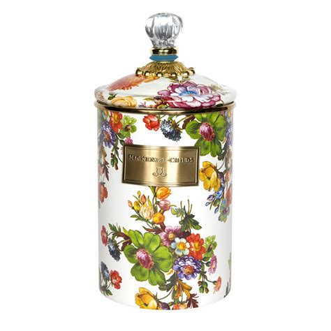 buy kitchen canisters buy mackenzie childs flower market enamel canister white