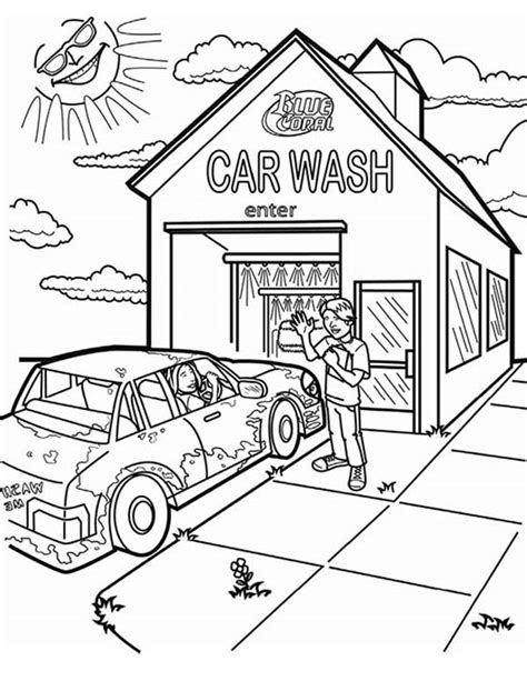 car wash coloring pages and car wash coloring pages and