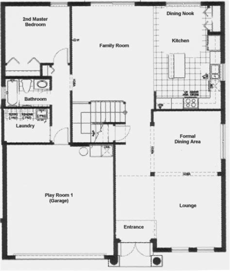 luxury ground floor floor home plan new home plans