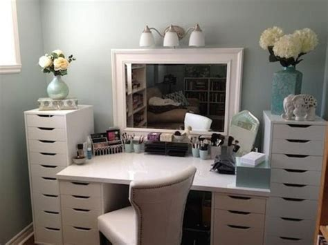 ikea makeup vanity vanity using ikea storage drawers and tabletop https www